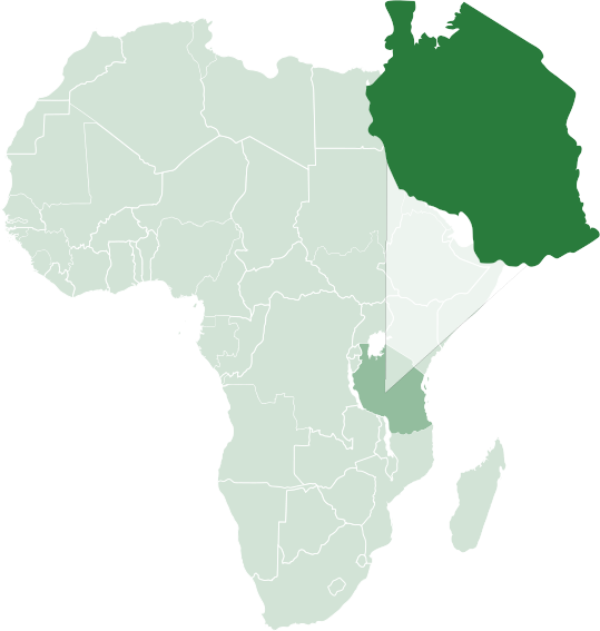 RA Safaris Africa Map