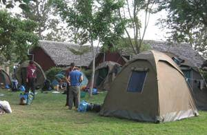 Basic camping canvas tent