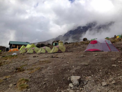 A camp for mountaineering