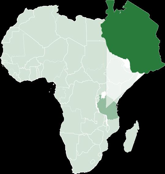RA Safaris Africa Map