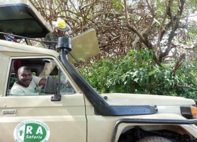 Salehe safari guide at RA safaris