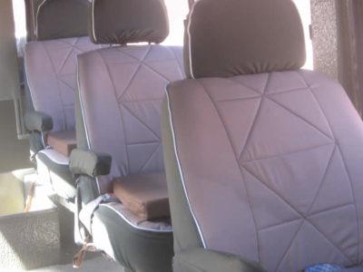 Stretched landcruiser seating arrangement