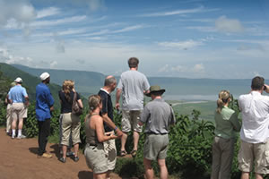 People at the Ngorongoro Crater