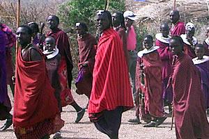 Tribal group in Ngorongoro