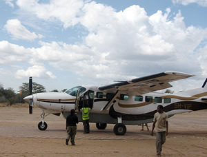 Airplane to Selous Game Reserve
